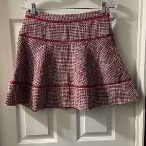 Banana Republic Dusty Rose Tiered Tweed Skirt 0